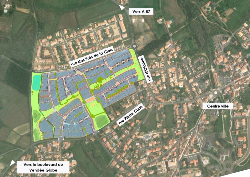 plan de situation Lotissement Les Prés de la Clais Sud - Tranche 4