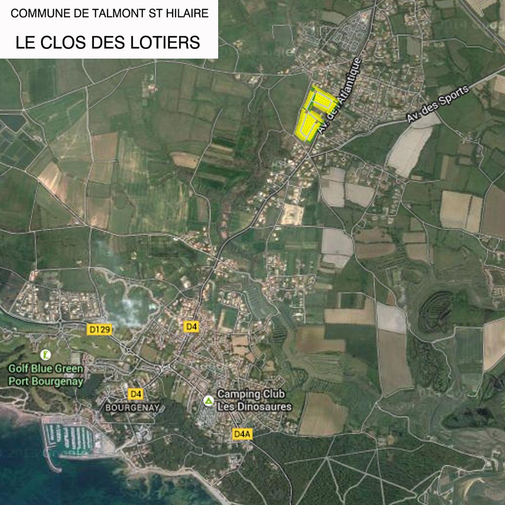 plan de situation Lotissement Le Clos des Lotiers