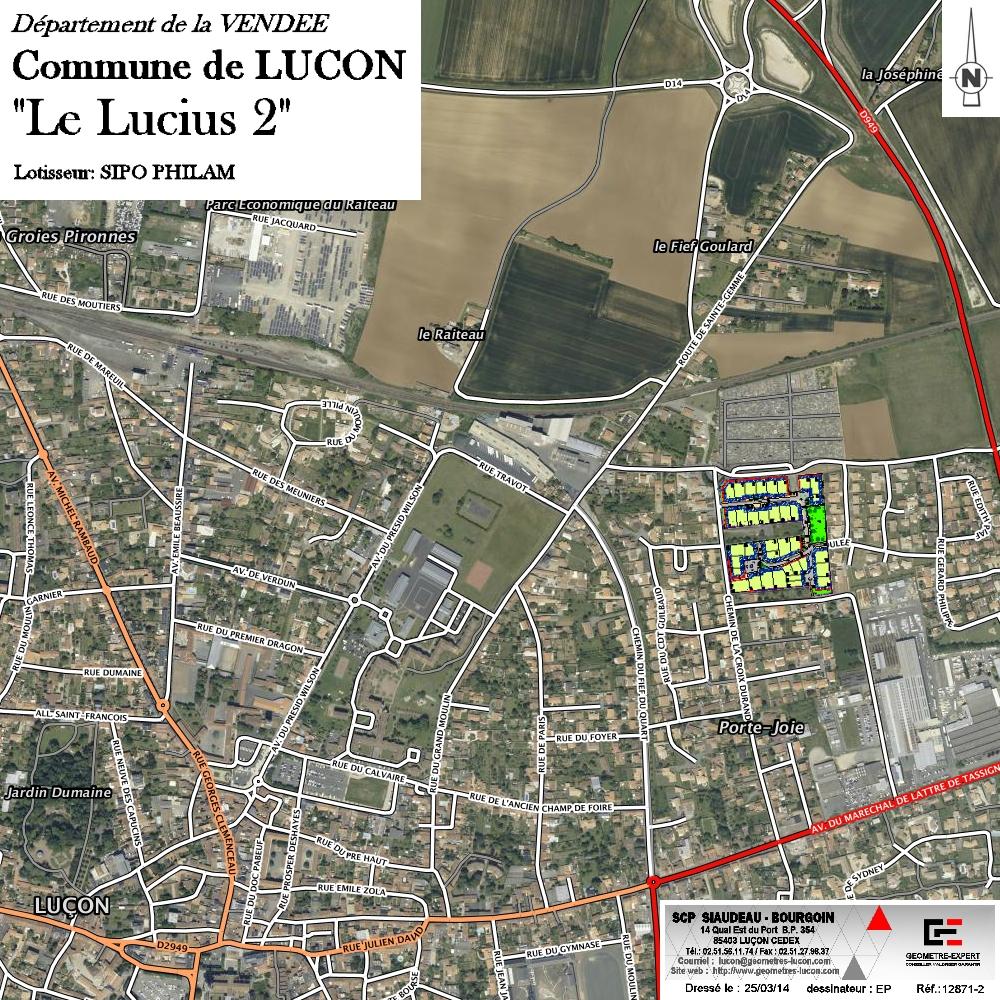 plan de situation Lotissement Le Lucius II