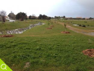 réalisation du bassin d'orage du lotissement la Gachère à Brem sur Mer